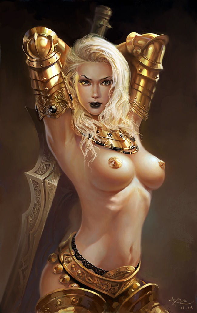 With erotic fantasy women art
