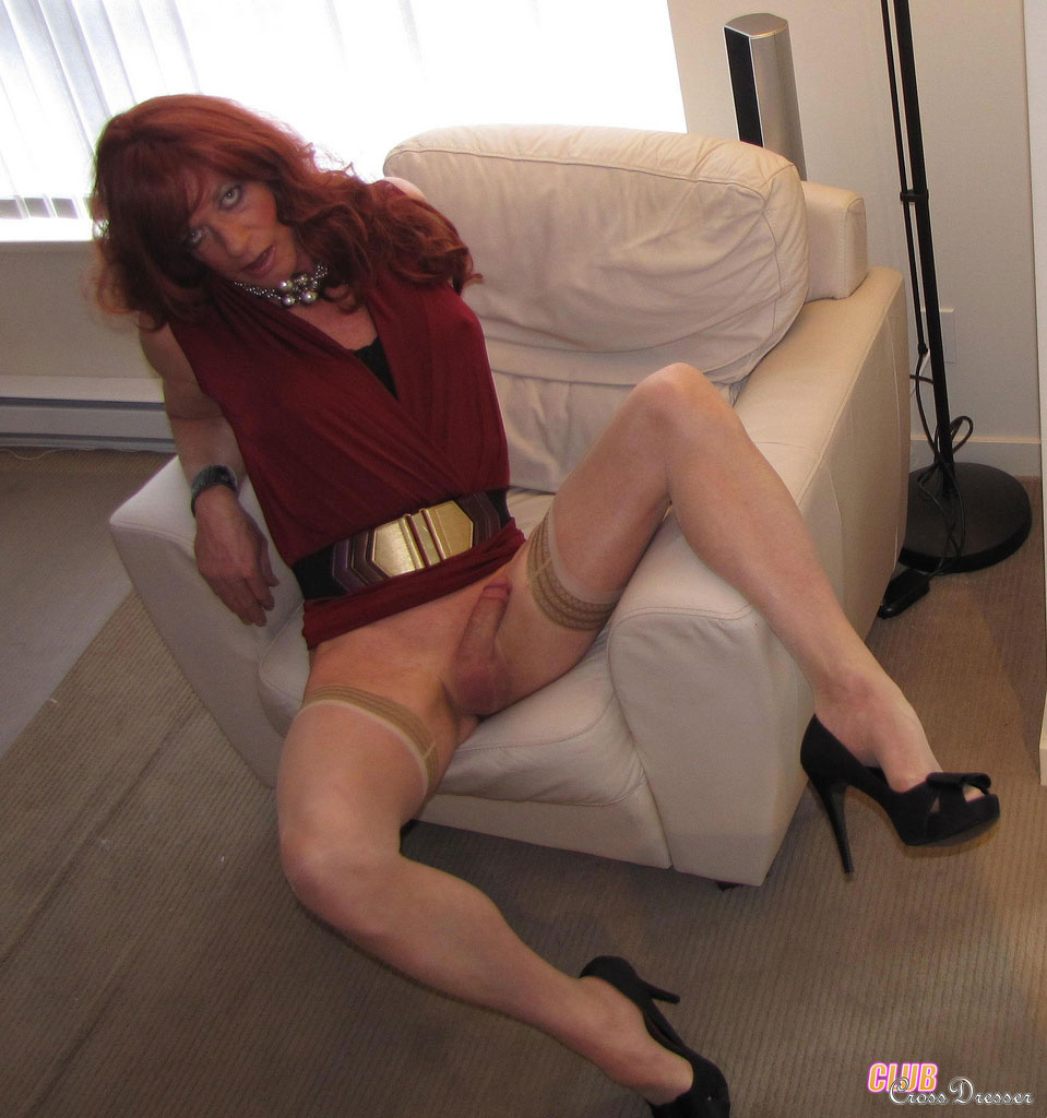 crossdresser in nylons fickmaschiene