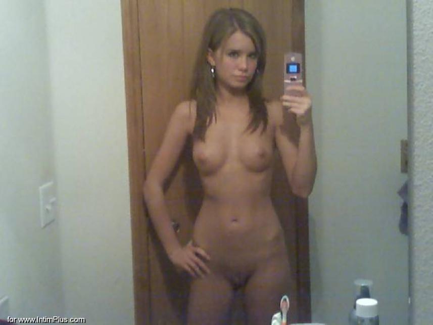 Not Naked skinny girls self pics were