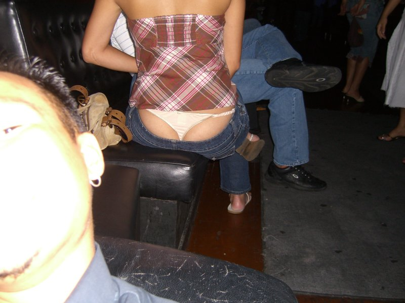 girls thong showing jeans full size