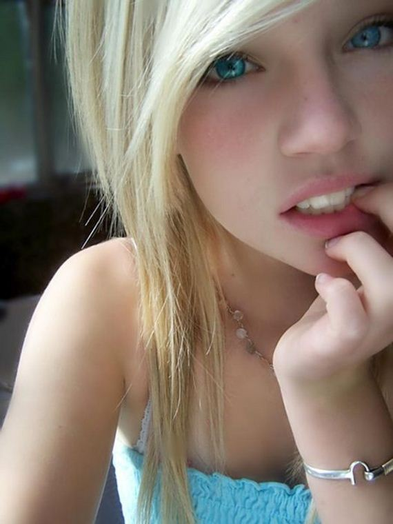 girls hair blonde Cute with
