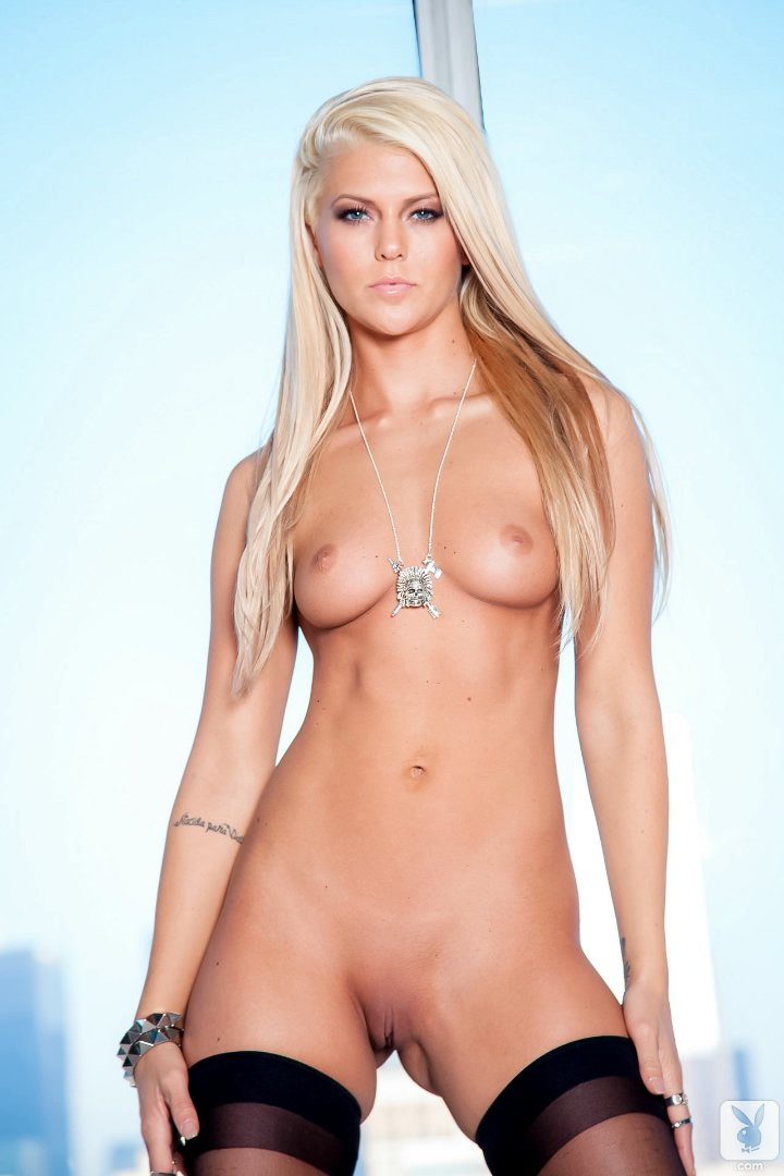 Blonde playboy models nude
