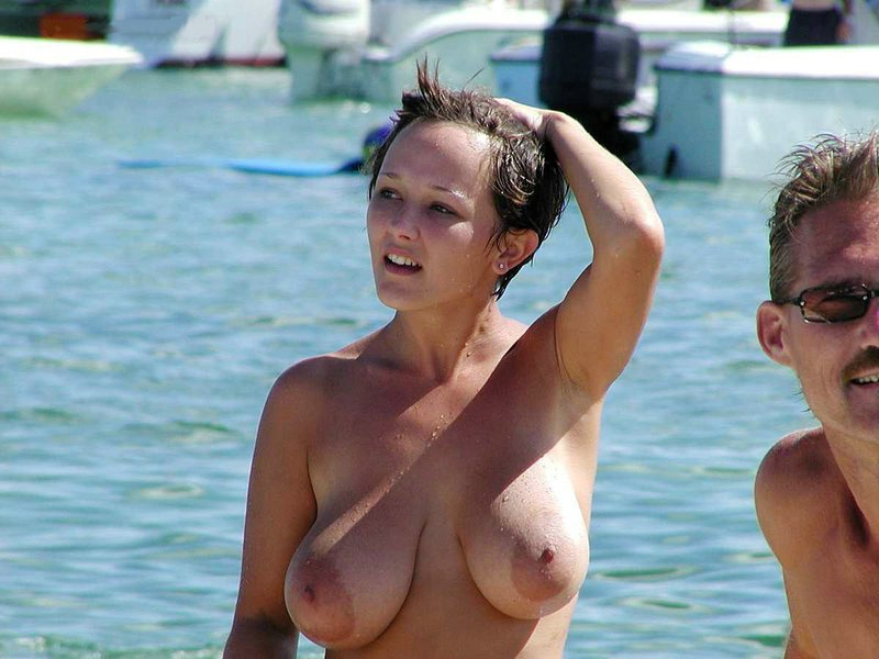 Nude beach big boob woman 300X225 size