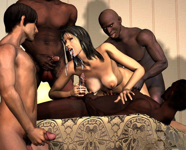 Interracial orgy cuckold