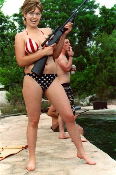 Palin hoax photo bikini gun