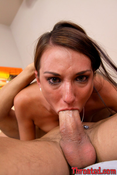 Perfect gag blowjob