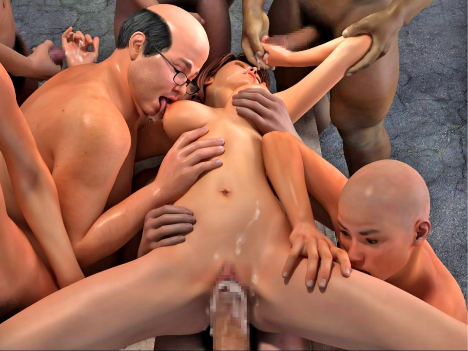 Girls getting forced gangbang