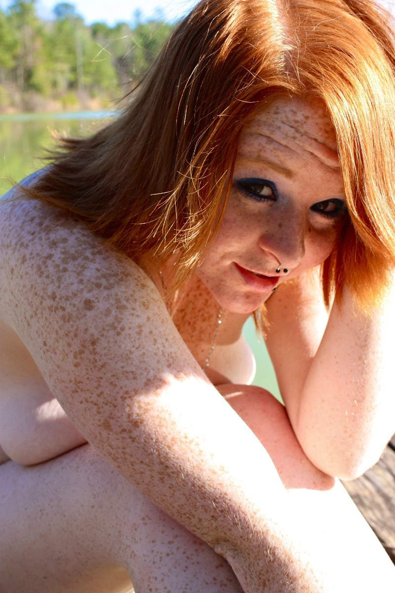 Not puzzle Girl with freckles nude can