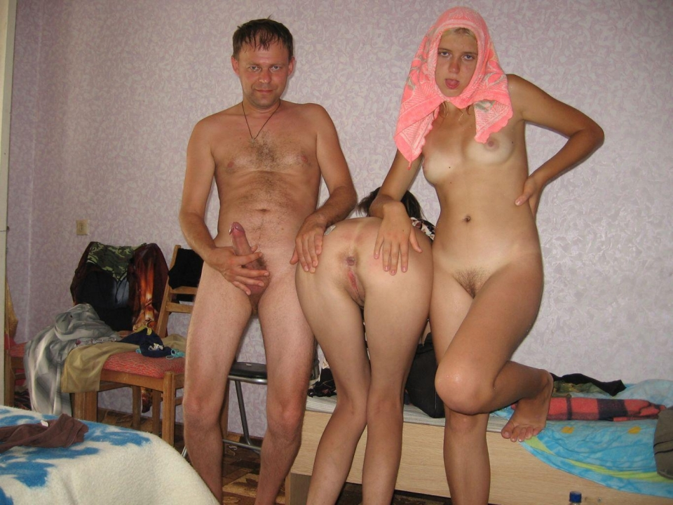Young russian family nudists