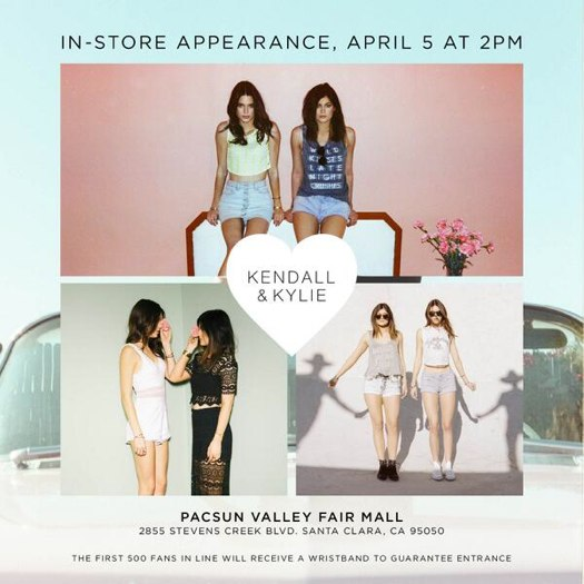 pacsun kendall and kylie jenner 2014 full size