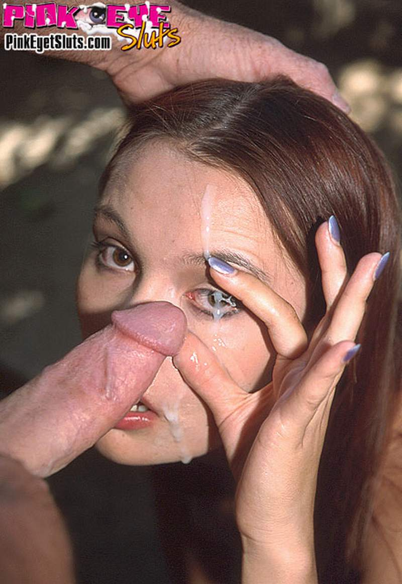 cum face eye