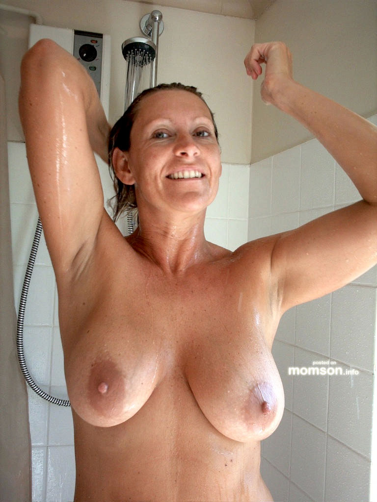 naked and shower