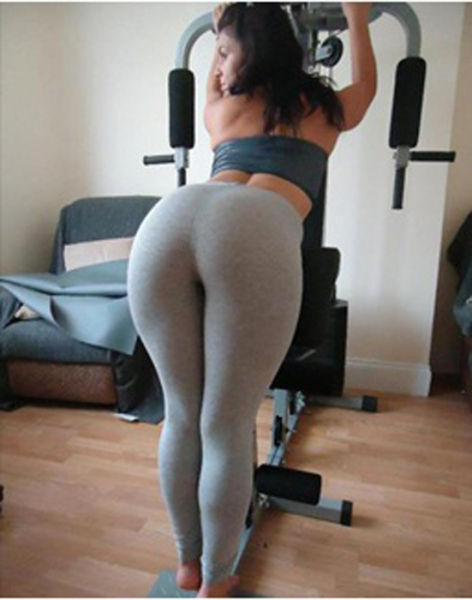 hand down girl yoga pants