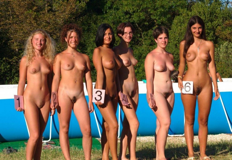 Nudist beauty contest photos against
