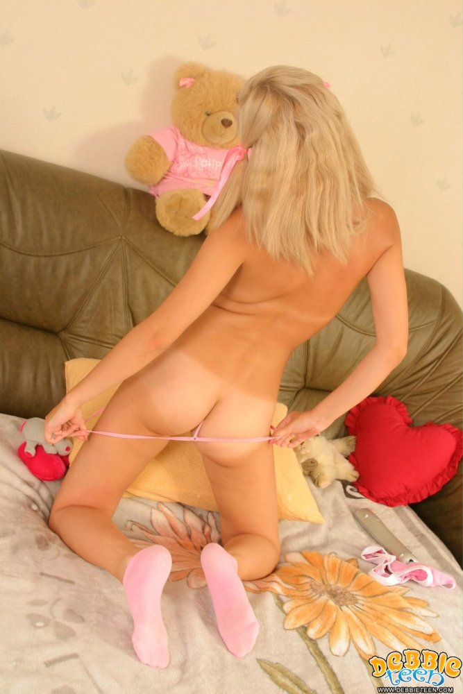 naked girl with teddy bear full size
