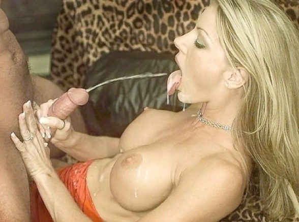 blonde huge tits handjob cum shot full size