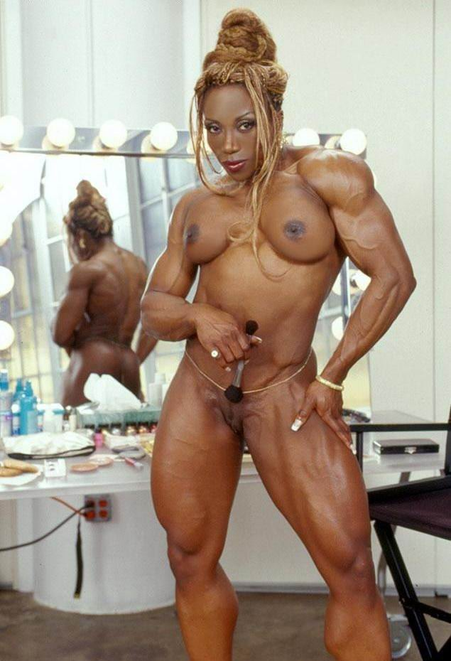 nude super busty sized female bodybuilder
