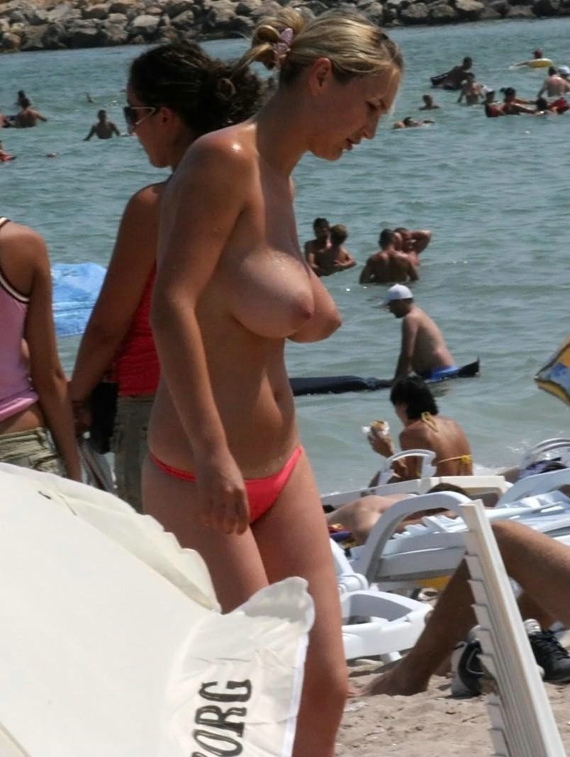 nude puffy beach boobs