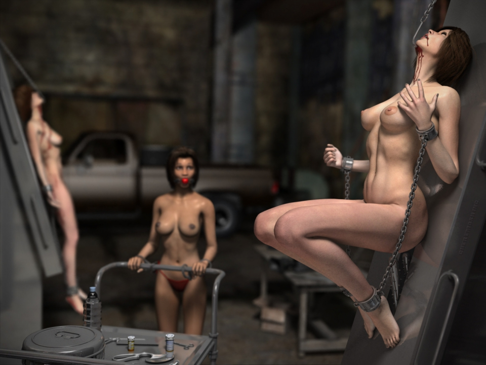 women in peril naked