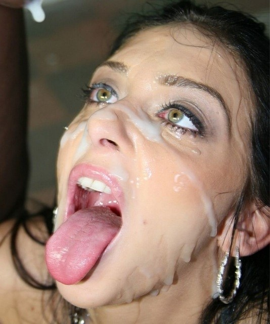 covered in cum