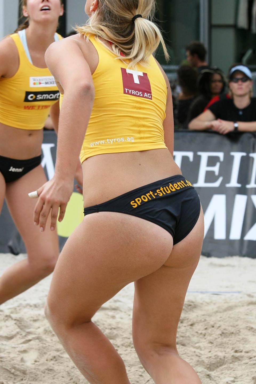 Girls volleyball ass shot
