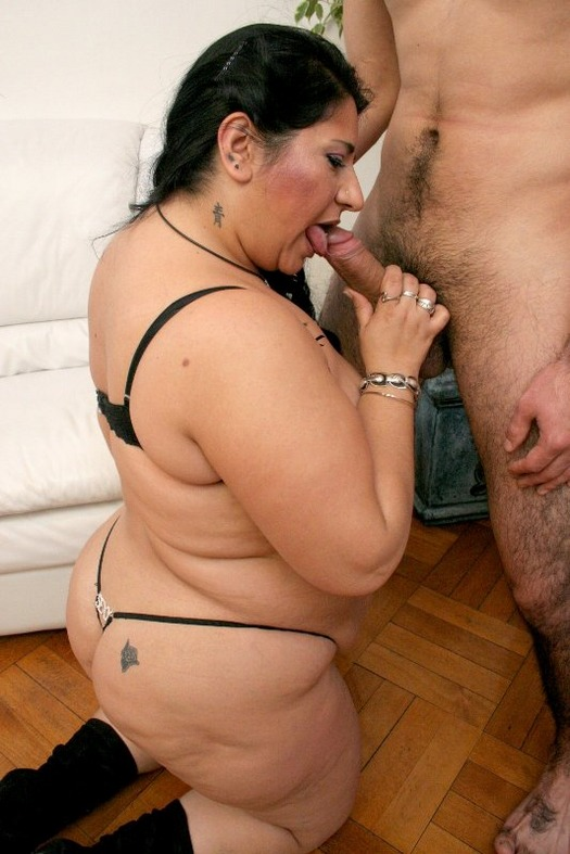 image Naughty milf jerks off a naked young dude