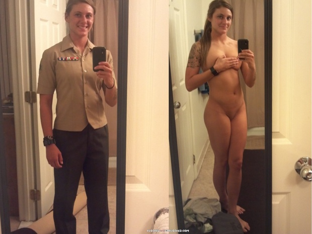 Women In Marine Nuaked