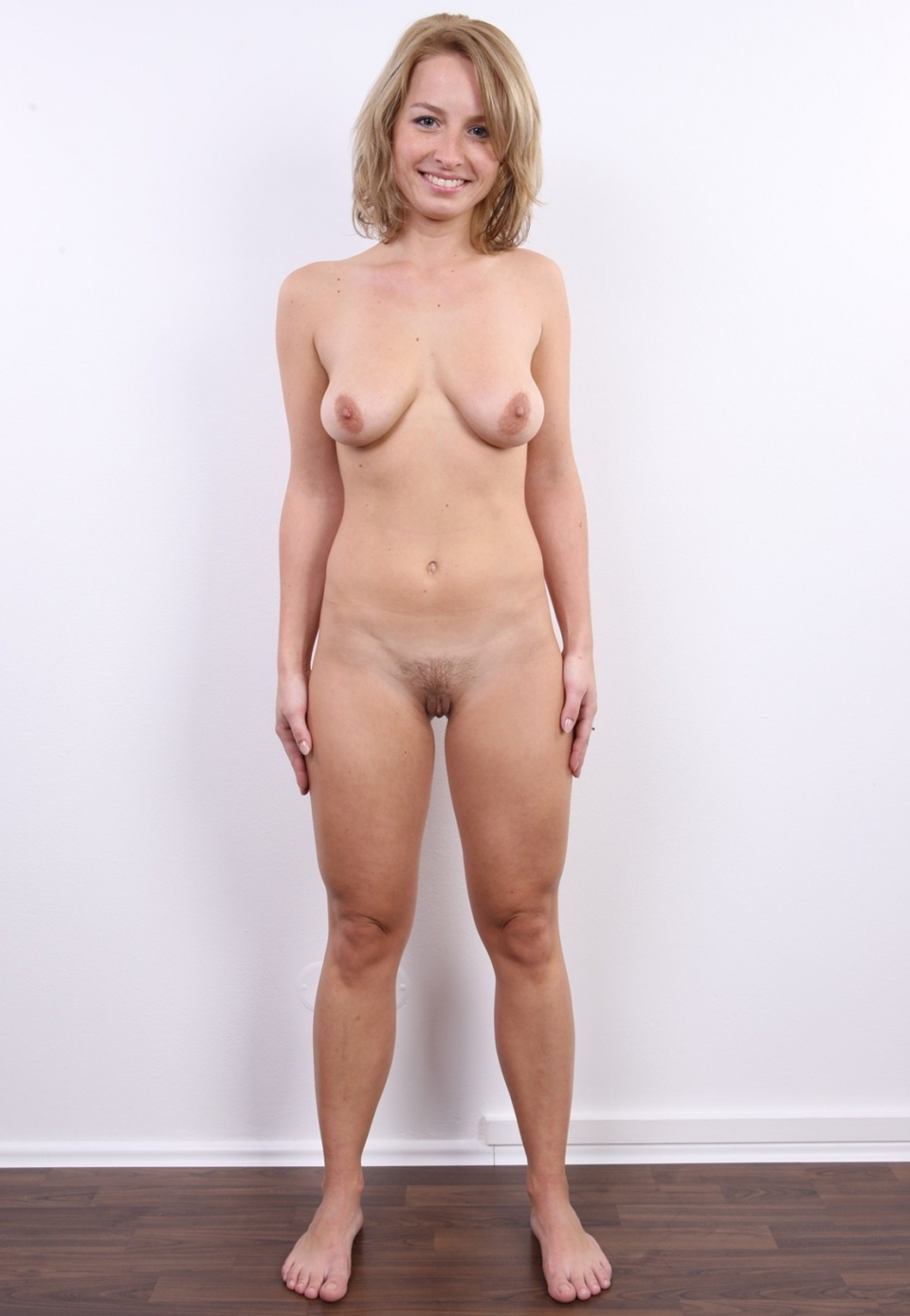 Nude women standing up naked