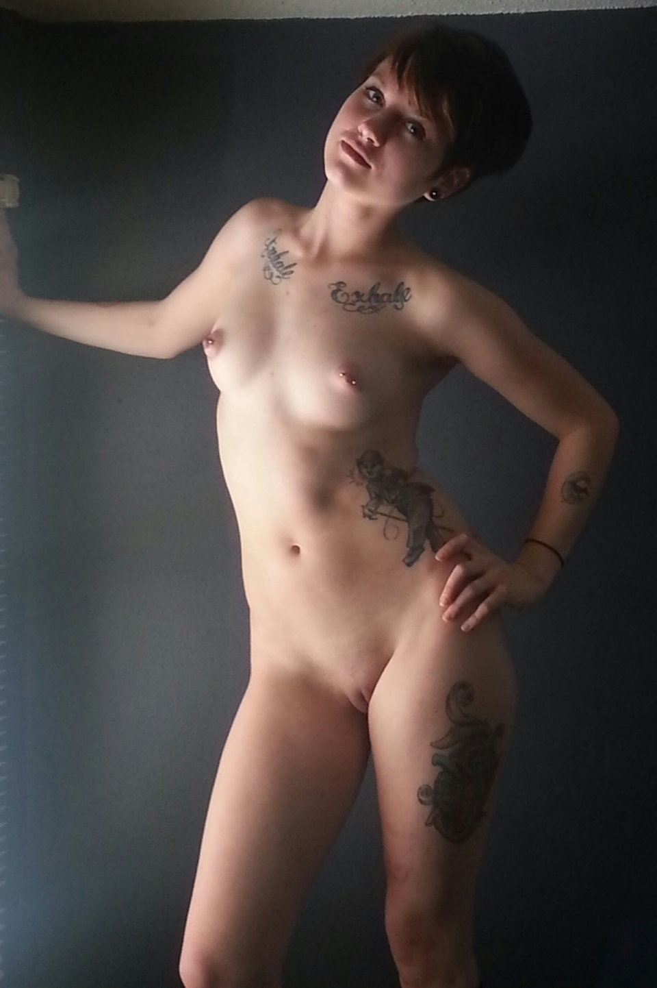 short hair girl naked