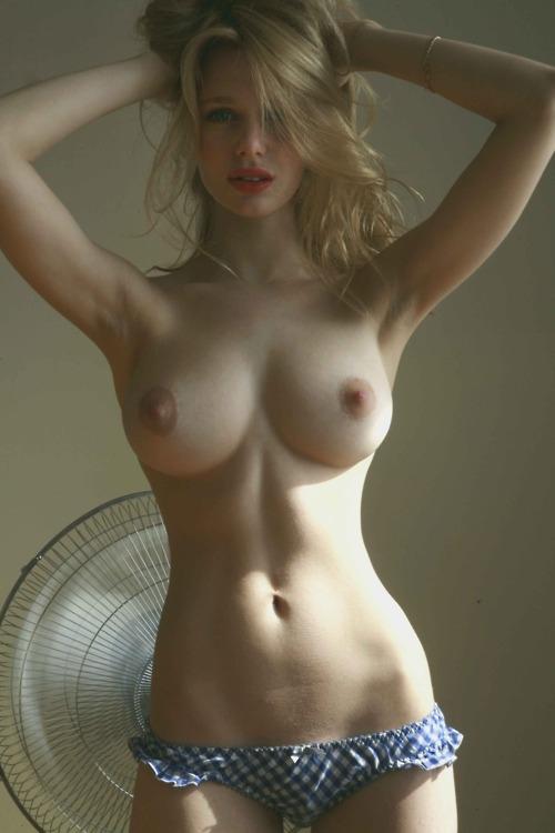 Thin blonde big tits
