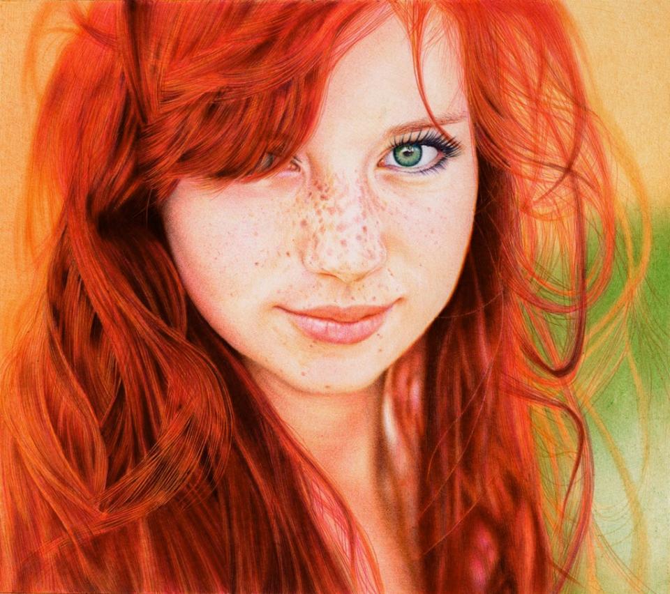 redhead girl full size