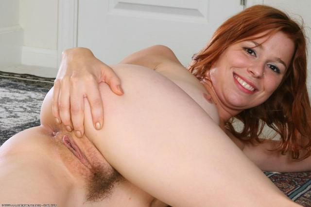 cute redhead hairy pussy full size