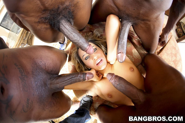 Gang cock bang black huge
