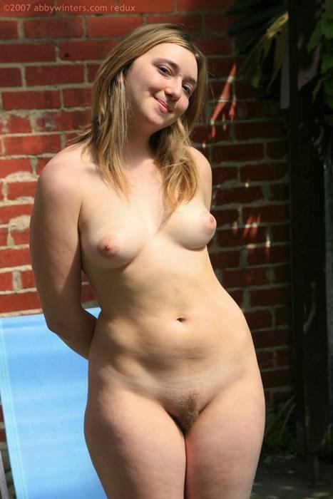 chubby girls nude back yard full size