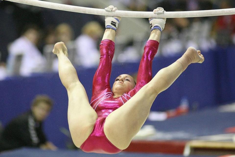 Nude oops gymnastics