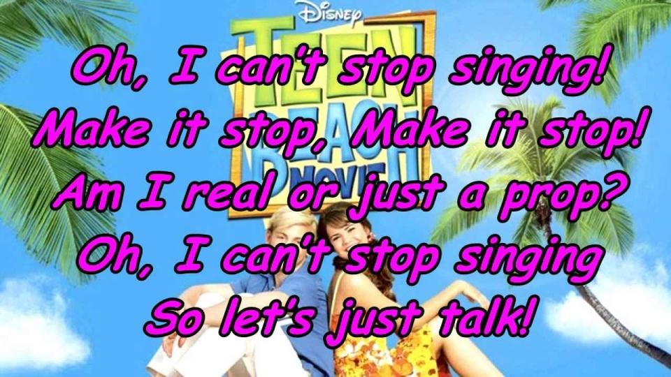 can t stop singing lyrics teen beach movie full size