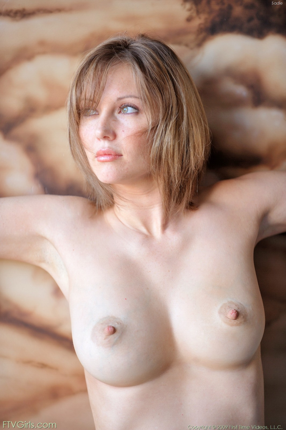 Girl tits pale big